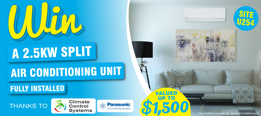 Win a 2.5kw Split Air Conditioning Unit