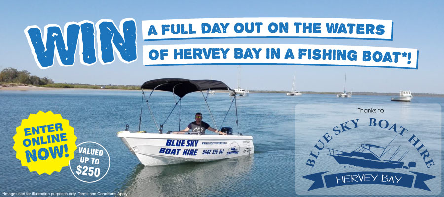 WIN a full day out on the waters of Hervey Bay in a Fishing Boat